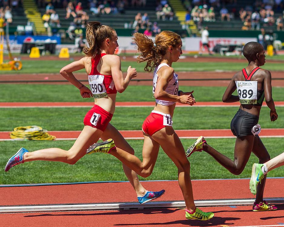 women's 1500 meter heat 2, Elise Cranny