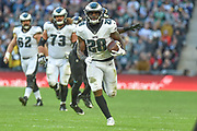 Philadelphia Eagles Wendell Smallwood RB (28) runs into the end zone, to touchdown during the International Series match between Jacksonville Jaguars and Philadelphia Eagles at Wembley Stadium, London, England on 28 October 2018.