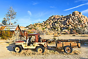 Old Rusted Jeep at Keys Ranch Joshua Tree National Park
