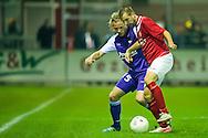Harkemase Boys - Willem II KNVB seizoen 2011-2012<br /> Oebele Schokker in duel met Niek Vossenbelt<br /> Foto: Geert van Erven