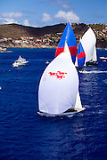 W Class Wild Horses racing in the St. Barth's Bucket Regatta.