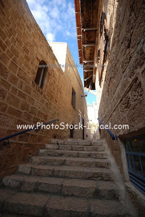 Israel, Old Jaffa Narrow alleyway