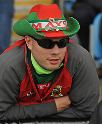 Cain Moore from Westport keeping a close eye on the Mayo v Derry match.<br />