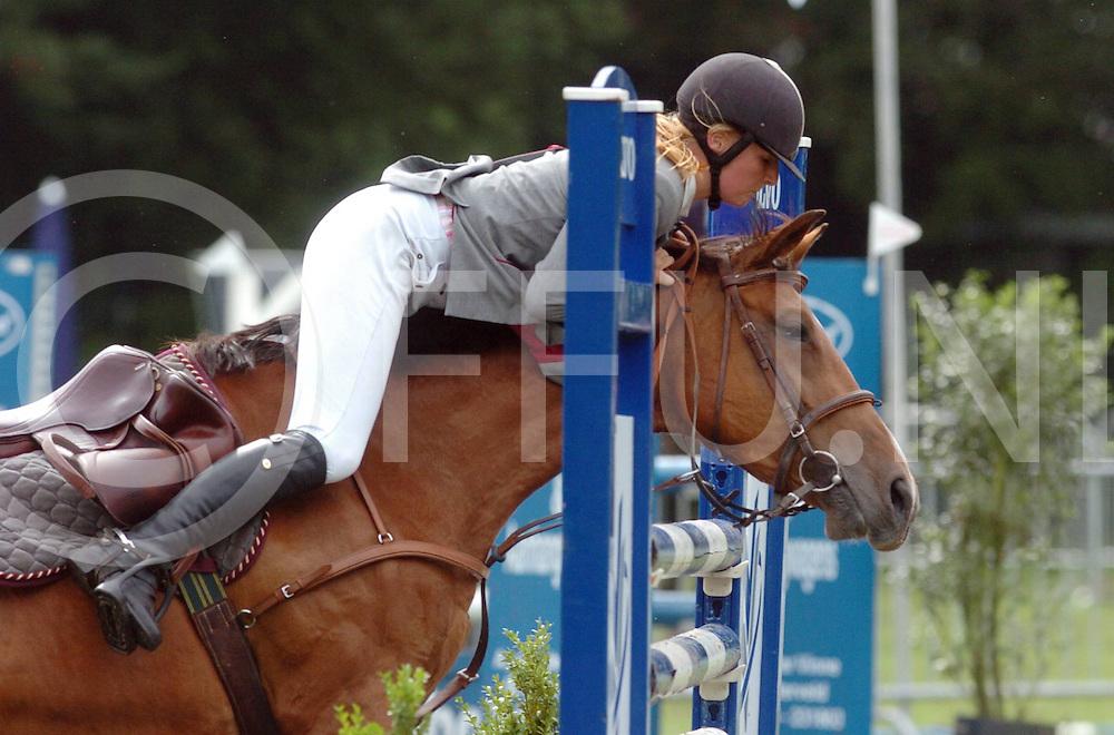 060803, hardenberg,ned<br /> Concours<br /> foto: Niet alle ruiters en paarden konden de hindernis overzien.<br /> fotografie frank uijlenbroek&copy;2006 frank uijlenbroek