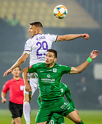 Jan Mlakar of NK Maribor vs Maksimenko Vitalijs of NK Olimpija Ljubljana during a football game between NK Olimpija Ljubljana and NK Maribor in Final Round (18/19)  of Pokal Slovenije 2018/19, on 30th of May, 2014 in Arena Z'dezele, Ljubljana, Slovenia. Photo by Matic Ritonja / Sportida