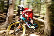 Botsy Phillips competes in Stage 3 of the Keystone Big Mountain Enduro in Keystone, CO. ©Brett Wilhelm
