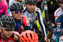 NUSS Raylyn (USA) at the start of Women Elite race, 2019 UCI Cyclo-cross World Cup Heusden-Zolder, Belgium, 26 December 2019.<br /> <br /> Photo by Pim Nijland / PelotonPhotos.com <br /> <br /> All photos usage must carry mandatory copyright credit (Peloton Photos   Pim Nijland)