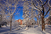 Photos of St Norbert College in De Pere, Wisconsin on March 24, 2011 after snow storm dropped over 17 inches of snow on the area. ( Photo by Mike Roemer)