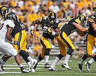 September 07 2013: Iowa Hawkeyes running back LeShun Daniels (29) on a run during the second quarter of the NCAA football game between the Missouri State Bears and the Iowa Hawkeyes at Kinnick Stadium in Iowa City, Iowa on September 7, 2013. Iowa defeated Missouri State 28-14.