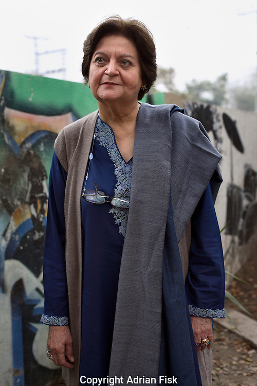 Salima Hasme who left the national college of art in Lahore to help start Beacon House where she has been teaching art since 2003.