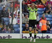 Photo: Lee Earle.<br /> Crystal Palace v Sheffield United. Coca Cola Championship. 22/09/2007. United's Jonathan Stead looks dejected after losing to Palace.