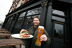 UK ENGLAND LONDON 13MAR12 - Juergen Maennel, owner of the Zeitgest Gastro-pub poses for a picture at the restaurant. The Zeitgest at The Jolly Gardener pub in Lambeth near the river Thames offers a good selection of German food and beverages.....jre/Photo by Jiri Rezac....© Jiri Rezac 2012
