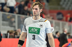Uwe Gensheimer of Germany during handball match between National teams of Germany and Spain on Day 7 in Main Round of Men's EHF EURO 2018, on January 24, 2018 in Arena Varazdin, Varazdin, Croatia. Photo by Mario Horvat / Sportida