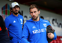 West Brom's Craig Dawson and Ahmed Hegazy arrive at the Wham Stadium - Mandatory by-line: Matt McNulty/JMP - 22/08/2017 - FOOTBALL - Wham Stadium - Accrington, England - Accrington Stanley v West Bromwich Albion - Carabao Cup - Second Round