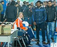 LUCKNOW (India) -  teamarts Marijke Thunnissen voor de oefenwedstrijd tegen Korea voor de Junior  World Cup hockey men . COPYRIGHT KOEN SUYK