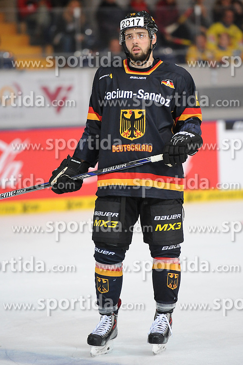 07.11.2014, Olympia Eisstadion, Muenchen, GER, IIHF, Deutschland Cup, Deutschland vs Schweiz, im Bild Thomas Oppenheimer (Deutschland) // during the German Cup Match between Germany and Switzerland at the Olympia Eisstadion in Muenchen, Germany on 2014/11/07. EXPA Pictures &copy; 2014, PhotoCredit: EXPA/ Eibner-Pressefoto/ Laegler<br /> <br /> *****ATTENTION - OUT of GER*****