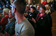 audience members applaud as Democratic presidential candidate, Hillary Rodham Clinton speaks during a town hall meeting at the Rochester Opera House in Rochester, N.H. Friday, Jan. 22, 2016.  CREDIT: Cheryl Senter for The New York Times