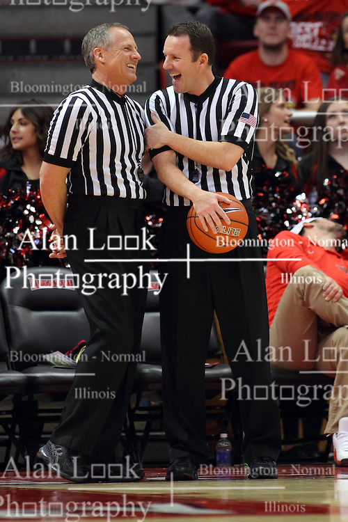 17 February 2016: Terry Ogelsby and Brad Gston during the Illinois State Redbirds v Indiana State Sycamores at Redbird Arena in Normal Illinois (Photo by Alan Look)