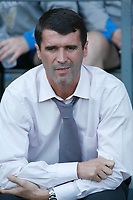Roy Keane takes his place on the Sunderland bench