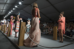September 13, 2016 - Madrid, Madrid, Spain - Parade the David Christian in MFSHOW 2016 women held at the Museum of Costume in Madrid, on September 13, 2016  (Credit Image: © Oscar Gonzalez/NurPhoto via ZUMA Press / RealTime Images)