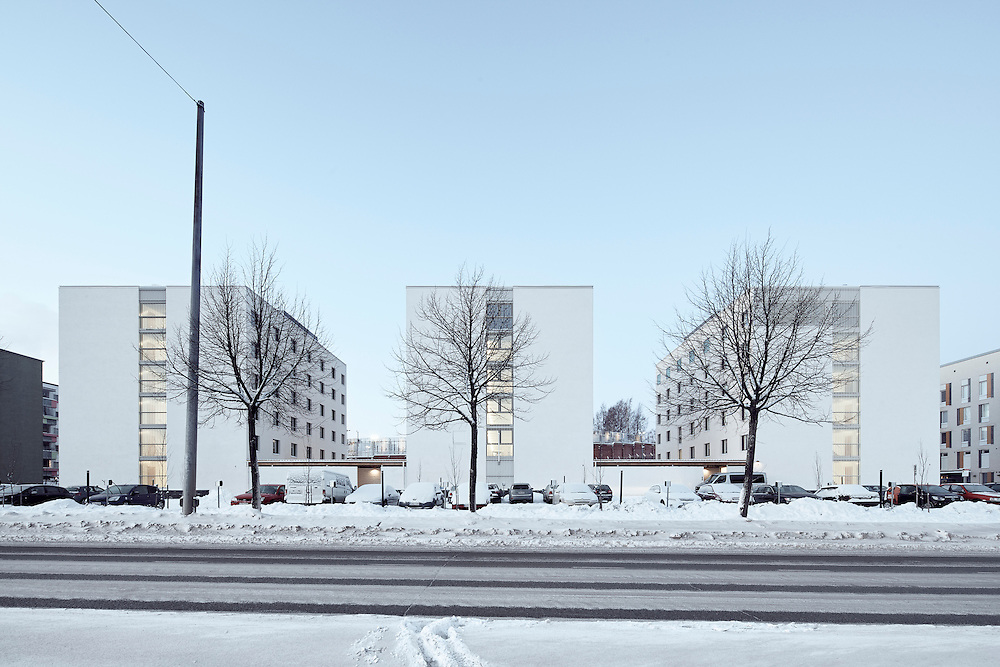 HOAS Hemanni student housing designed ny Heikkinen-Komonen Architects in Helsinki, Finland