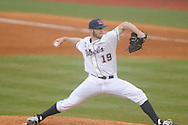 Ole Miss pitcher Bobby Wahl (19) vs. Rhode Island at Oxford-University Stadium in Oxford, Miss. on Friday, February 22, 2013. Ole Miss won 8-1 to improve to 5-0.