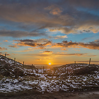 Senset from the path along Brun Moor on the Marsden Moor Estate, Saddleworth, West Yorkshire.