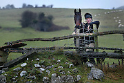 """19/12/2003.Michael Bowe pictured at his farm in Kilkenny with """"Solerina"""".Picture Dylan Vaughan"""