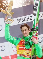 06.01.2016, Paul Ausserleitner Schanze, Bischofshofen, AUT, FIS Weltcup Ski Sprung, Vierschanzentournee, Bischofshofen, Podium Gesamtsieger, im Bild Gesamtsieger Peter Prevc (SLO) mit dem Sieger Pokal // Peter Prevc of Slovenia celebrates victory and overall victory with the Four Hills trophy of the Four Hills Tournament of FIS Ski Jumping World Cup at the Paul Ausserleitner Schanze in Bischofshofen, Austria on 2016/01/06. EXPA Pictures © 2016, PhotoCredit: EXPA/ JFK