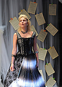 Prima La Musica<br /> Opera At Home Ensemble<br /> at The Arcola Theatre, London, Great Britain <br /> 25th August 2011 <br /> Rehearsal <br /> Grimeborn The Opera Festival<br /> directed by Jose Manuel Gandia<br /> <br /> Alexia Mankovskaya (as Eleonora)<br /> <br /> <br /> Photograph by Elliott Franks
