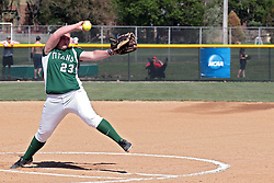 09 May 2014:  Jenna Noland during an NCAA Division III Championship Series women's softball game between the Lake Forest Foresters and the Illinois Wesleyan Titans in Bloomington IL