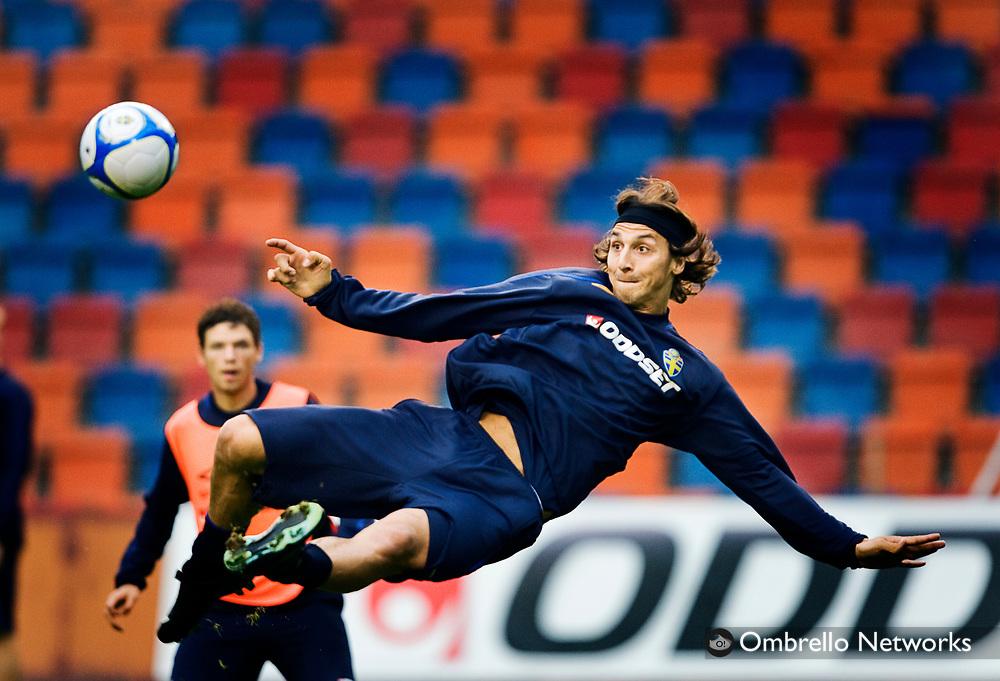 STOCKHOLM 080908<br /> TR&Auml;NING FOTBOLLSLANDSLAGET VM-KVAL<br /> I bild: Zlatan Ibrahimovic
