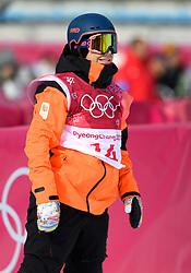 February 19, 2018 - Pyeongchang, SOUTH KOREA - 180219 Cheryl Maas of the Nederlands competes in the Women's Big Air Qualification during day ten of the 2018 Winter Olympics on February 19, 2018 in Pyeongchang..Photo: Carl Sandin / BILDBYRÃ…N / kod CS / 57999_306 (Credit Image: © Carl Sandin/Bildbyran via ZUMA Press)