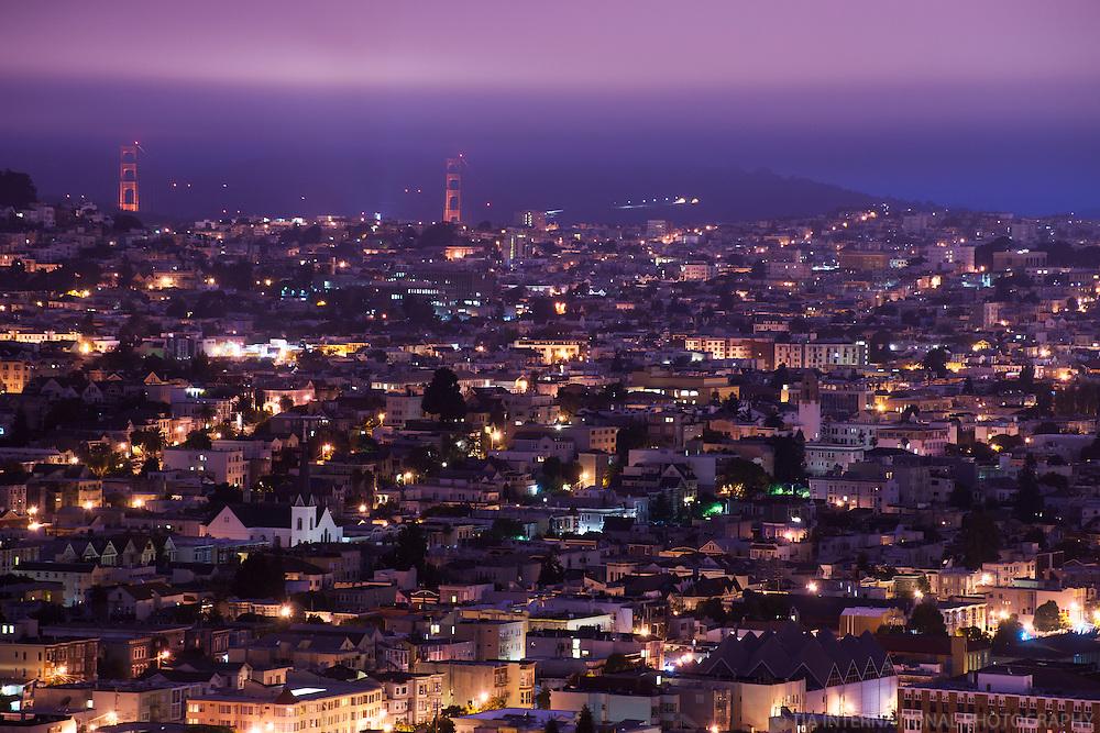 SF Neighborhoods & Golden Gate Bridge, Bernal Heights