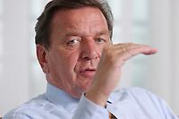 02 JUL 2003, BERLIN/GERMANY:<br /> Gerhard Schroeder, SPD, Bundeskanzler, waehrend einem Interview, in seiner Dienstwohnung, Bundeskanzleramt<br /> IMAGE: 20030702-03-010<br /> KEYWORDS: vorwärts, Gerhard Schröder