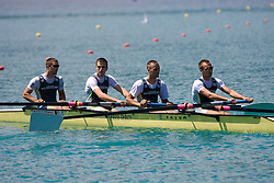 Rok Gradisnik, Blaz Velcel, Marko Grace and Jernej Jurse of VK DEM MB at 54th International rowing Regatta, on June 13, 2009, at Bled lake, Slovenia. (Photo by Vid Ponikvar / Sportida)