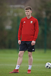 NEWPORT, WALES - Thursday, March 21, 2019: Wales' Joe Low during an Under-21 training session at Dragon Park. (Pic by David Rawcliffe/Propaganda)