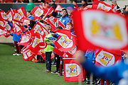 Flags before kick off during the EFL Sky Bet Championship match between Bristol City and Burton Albion at Ashton Gate, Bristol, England on 4 March 2017. Photo by Richard Holmes.