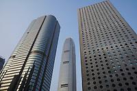 China Hong Kong low angle view of skyscrapers