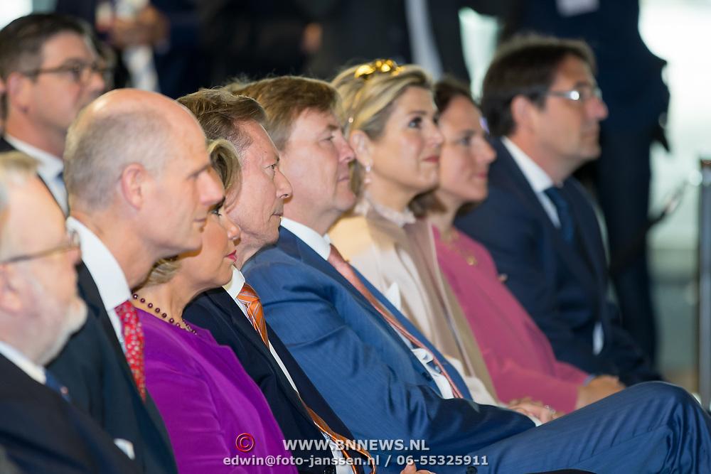 LUX/Luxembug/2 Maxima0180524 - Staatbezoek Luxemburg 2018 dag 2, Willem-Alexander en Maxima en Erfgroothertog Henri, Erfgroothertogin Maria Teresa en minister Stef Blok