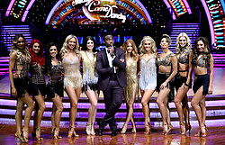 Presenter Ore Oduba (front centre) Luba Mushtuk (left) Dianne Buswell, Janette Manrara, Faye Tozer, Lauren Steadman, Stacey Dooley, Ashley Roberts, Karen Clifton, Nadiya Bychkova and Amy Dowden pose for photographers during a photocall before the opening night of the Strictly Come Dancing Tour 2019 at the Arena Birmingham, in Birmingham. Picture date: Thursday January 17, 2019. Photo credit should read: Aaron Chown/PA Wire