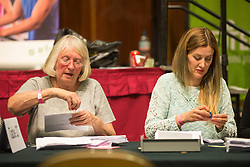 © Licensed to London News Pictures. 08/06/2017. Kendal UK. Counting has started in Kendal leisure centre for in Tim Farron's constituency of Westmorland & Lonsdale. Photo credit: Andrew McCaren/LNP
