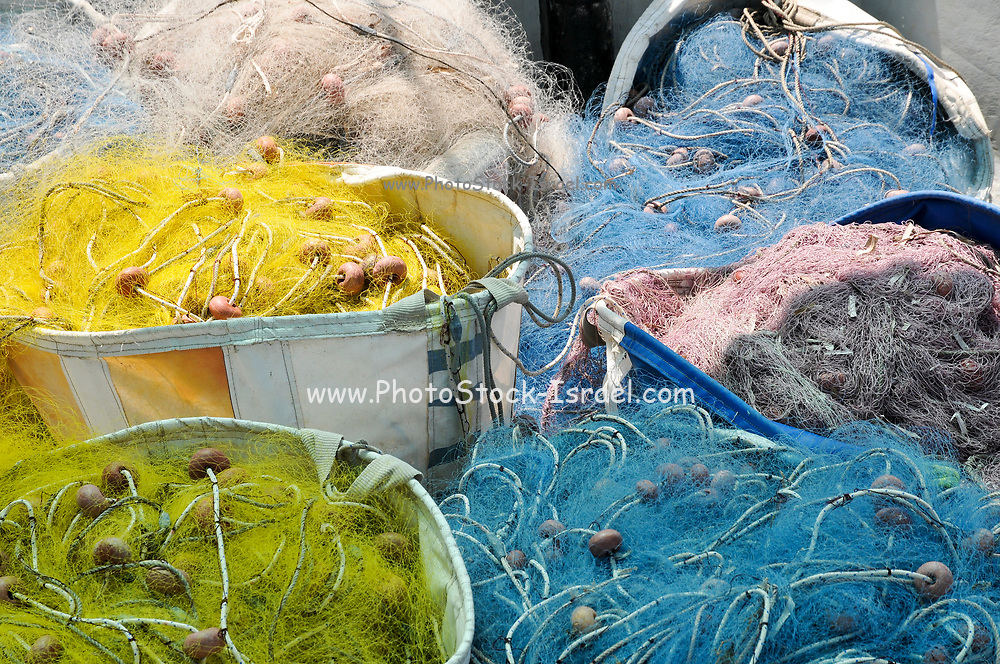 Fishing nets at Limassol harbour, Cyprus