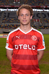 02.07.2015, Esprit Arena, Duesseldorf, GER, 2. FBL, Fortuna Duesseldorf, Fototermin, im Bild Julian Schauerte ( Fortuna Duesseldorf / Portrait ) // during the official Team and Portrait Photoshoot of German 2nd Bundesliga Club Fortuna Duesseldorf at the Esprit Arena in Duesseldorf, Germany on 2015/07/02. EXPA Pictures © 2015, PhotoCredit: EXPA/ Eibner-Pressefoto/ Thienel<br /> <br /> *****ATTENTION - OUT of GER*****