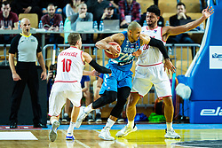 Jordan Morgan of Slovenia during basketball match between National teams of Slovenia and Austria in 2nd Round of the 2021 EuroBasket Qualifiers, on February 23, 2020 in Arena Bonifika, Koper / Capodistria, Slovenia. Photo By Grega Valancic / Sportida