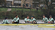 "London, Great Britain, Luke JUCKETT fights to regain his blade, with the help from Ali ABBASI after ""catching a crab' during the The BNY Mellon Men's Boat Race, Trail Eights at Hammersmith.  Championship Course. Tideway Week, Putney to Mortlake. ENGLAND. <br /> <br />  Sunday 09/04/2015<br /> <br /> [Mandatory Credit; Peter Spurrier/Intersport-images]<br /> <br /> CUBC Trial VIII's between FUERTE on Surrey and LISTO on Middlesex<br /> <br /> FUERTE, Bow, Peter Carey, 2, Patrick Elwood, 3, Alister Taylor, 4, Peter Rees, 5, Charlie Fisher, 6, Ali Abbasi, 7, Luke Juckett, Stroke, Lance Tredell, Cox, Ian Middleton<br /> <br /> LISTO, Bow, Piers Kasas, Felix Newman, 3, Sam Ringer, 4, Joe Carroll, 5, Clemens Auersperg, 6, Vincent Bertram, 7, Henry Hoffstot, Stroke, Ben Ruble, Cox, Hugo Ramambason"