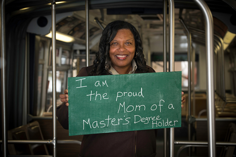 I am Muni, I am the Proud Mom of a Master's Degree Holder | Vawanda, a Muni Flynn Division Operator who drives an articulated bus and is the proud mother of a college graduate. | From the I am Muni 2013 Ad Campaign | April 5, 2013
