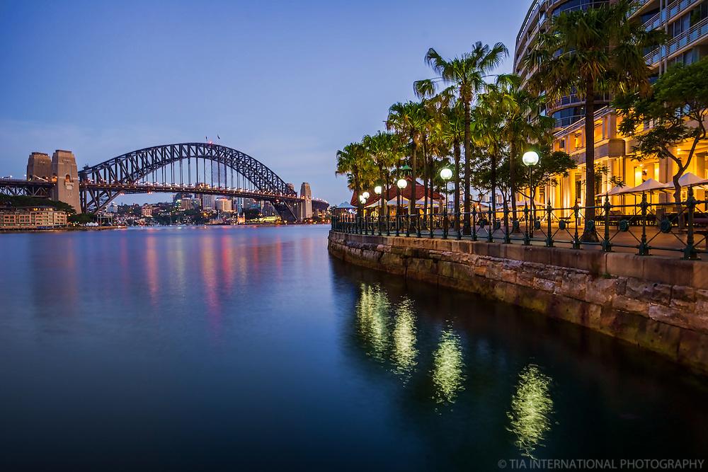 Sydney Cove featuring Harbour Bridge and Circular Quay Promenade
