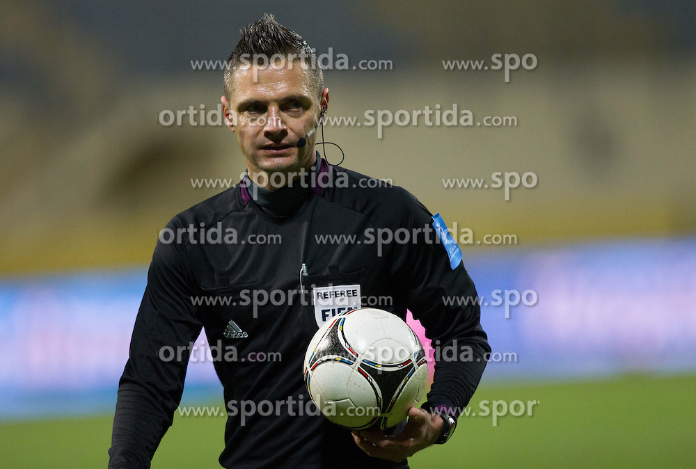 Referee Damir Skomina during football match between NK Domzale and FC Mura 05 in 27th Round of Prva liga Telekom Slovenije 2012/13 on April 6, 2013 in Sports park Domzale, Slovenia. (Photo By Vid Ponikvar / Sportida)