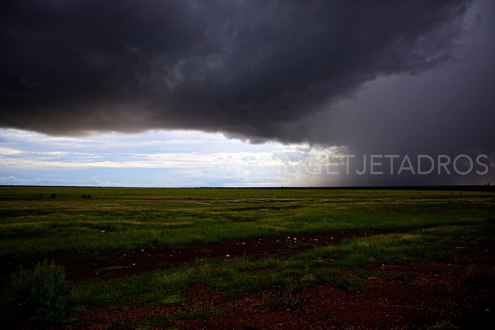 Dark storm approaching between Derby and Broome, Wester Australia.<br /> Exclusive at Getty Images.<br /> http://www.gettyimages.com.au/Search/Search.aspx?contractUrl=2&amp;language=en-US&amp;assetType=image&amp;p=ingetje+tadros<br /> &copy;Ingetje Tadros